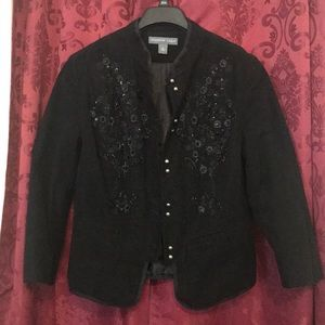 EUC - Josephine Chaus beaded and sequined jacket